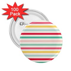 Papel De Envolver Hooray Circus Stripe Red Pink Dot 2.25  Buttons (100 pack)