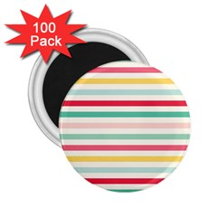 Papel De Envolver Hooray Circus Stripe Red Pink Dot 2 25  Magnets (100 Pack)