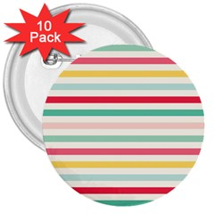 Papel De Envolver Hooray Circus Stripe Red Pink Dot 3  Buttons (10 Pack)