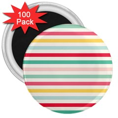 Papel De Envolver Hooray Circus Stripe Red Pink Dot 3  Magnets (100 pack)
