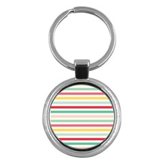 Papel De Envolver Hooray Circus Stripe Red Pink Dot Key Chains (round)