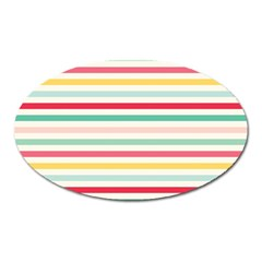 Papel De Envolver Hooray Circus Stripe Red Pink Dot Oval Magnet