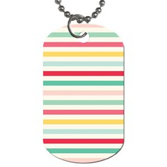 Papel De Envolver Hooray Circus Stripe Red Pink Dot Dog Tag (one Side)