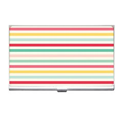 Papel De Envolver Hooray Circus Stripe Red Pink Dot Business Card Holders