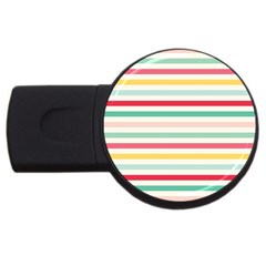Papel De Envolver Hooray Circus Stripe Red Pink Dot Usb Flash Drive Round (2 Gb)