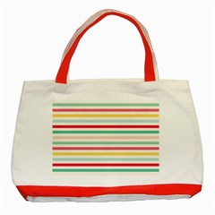 Papel De Envolver Hooray Circus Stripe Red Pink Dot Classic Tote Bag (red)