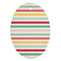 Papel De Envolver Hooray Circus Stripe Red Pink Dot Oval Ornament (two Sides)
