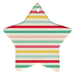 Papel De Envolver Hooray Circus Stripe Red Pink Dot Star Ornament (Two Sides)