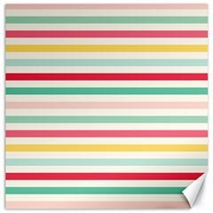 Papel De Envolver Hooray Circus Stripe Red Pink Dot Canvas 12  X 12