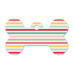 Papel De Envolver Hooray Circus Stripe Red Pink Dot Dog Tag Bone (Two Sides)