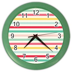 Papel De Envolver Hooray Circus Stripe Red Pink Dot Color Wall Clocks