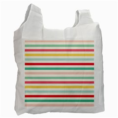 Papel De Envolver Hooray Circus Stripe Red Pink Dot Recycle Bag (one Side)