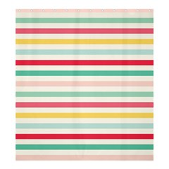Papel De Envolver Hooray Circus Stripe Red Pink Dot Shower Curtain 66  X 72  (large)