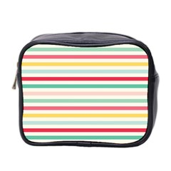 Papel De Envolver Hooray Circus Stripe Red Pink Dot Mini Toiletries Bag 2-Side