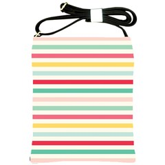 Papel De Envolver Hooray Circus Stripe Red Pink Dot Shoulder Sling Bags