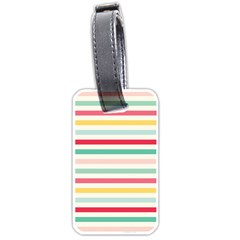 Papel De Envolver Hooray Circus Stripe Red Pink Dot Luggage Tags (one Side)