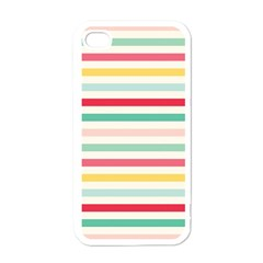 Papel De Envolver Hooray Circus Stripe Red Pink Dot Apple iPhone 4 Case (White)