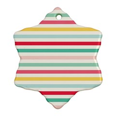 Papel De Envolver Hooray Circus Stripe Red Pink Dot Ornament (snowflake)