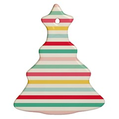 Papel De Envolver Hooray Circus Stripe Red Pink Dot Christmas Tree Ornament (two Sides)