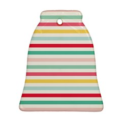 Papel De Envolver Hooray Circus Stripe Red Pink Dot Bell Ornament (two Sides)