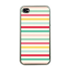 Papel De Envolver Hooray Circus Stripe Red Pink Dot Apple Iphone 4 Case (clear)