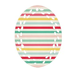 Papel De Envolver Hooray Circus Stripe Red Pink Dot Oval Filigree Ornament (two Sides)