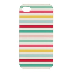Papel De Envolver Hooray Circus Stripe Red Pink Dot Apple Iphone 4/4s Hardshell Case
