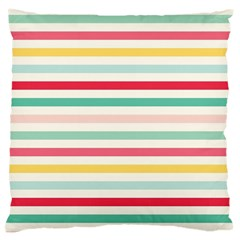 Papel De Envolver Hooray Circus Stripe Red Pink Dot Large Cushion Case (two Sides)