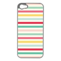 Papel De Envolver Hooray Circus Stripe Red Pink Dot Apple Iphone 5 Case (silver)