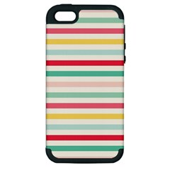 Papel De Envolver Hooray Circus Stripe Red Pink Dot Apple Iphone 5 Hardshell Case (pc+silicone)