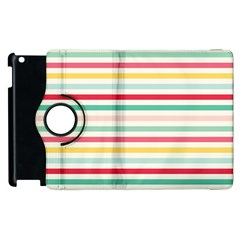 Papel De Envolver Hooray Circus Stripe Red Pink Dot Apple Ipad 2 Flip 360 Case