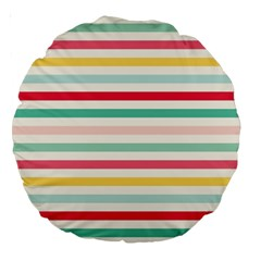 Papel De Envolver Hooray Circus Stripe Red Pink Dot Large 18  Premium Round Cushions