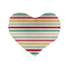 Papel De Envolver Hooray Circus Stripe Red Pink Dot Standard 16  Premium Heart Shape Cushions