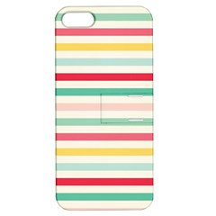 Papel De Envolver Hooray Circus Stripe Red Pink Dot Apple Iphone 5 Hardshell Case With Stand