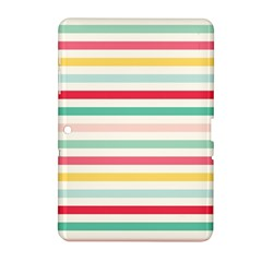 Papel De Envolver Hooray Circus Stripe Red Pink Dot Samsung Galaxy Tab 2 (10.1 ) P5100 Hardshell Case