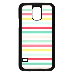 Papel De Envolver Hooray Circus Stripe Red Pink Dot Samsung Galaxy S5 Case (black)