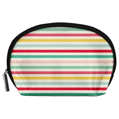 Papel De Envolver Hooray Circus Stripe Red Pink Dot Accessory Pouches (large)