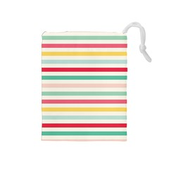 Papel De Envolver Hooray Circus Stripe Red Pink Dot Drawstring Pouches (medium)