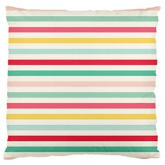 Papel De Envolver Hooray Circus Stripe Red Pink Dot Standard Flano Cushion Case (two Sides)
