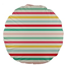 Papel De Envolver Hooray Circus Stripe Red Pink Dot Large 18  Premium Flano Round Cushions