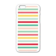 Papel De Envolver Hooray Circus Stripe Red Pink Dot Apple Iphone 6/6s White Enamel Case
