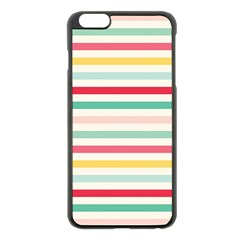 Papel De Envolver Hooray Circus Stripe Red Pink Dot Apple Iphone 6 Plus/6s Plus Black Enamel Case