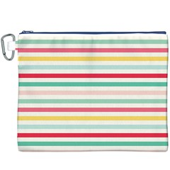 Papel De Envolver Hooray Circus Stripe Red Pink Dot Canvas Cosmetic Bag (xxxl)