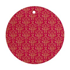 Damask Background Gold Ornament (round)
