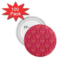Damask Background Gold 1 75  Buttons (100 Pack)