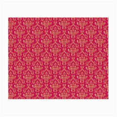 Damask Background Gold Small Glasses Cloth