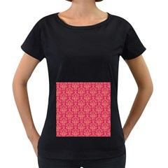 Damask Background Gold Women s Loose Fit T Shirt (black)