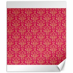 Damask Background Gold Canvas 8  X 10