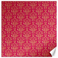 Damask Background Gold Canvas 16  X 16