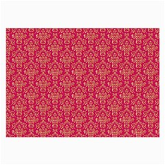 Damask Background Gold Large Glasses Cloth (2-Side)
